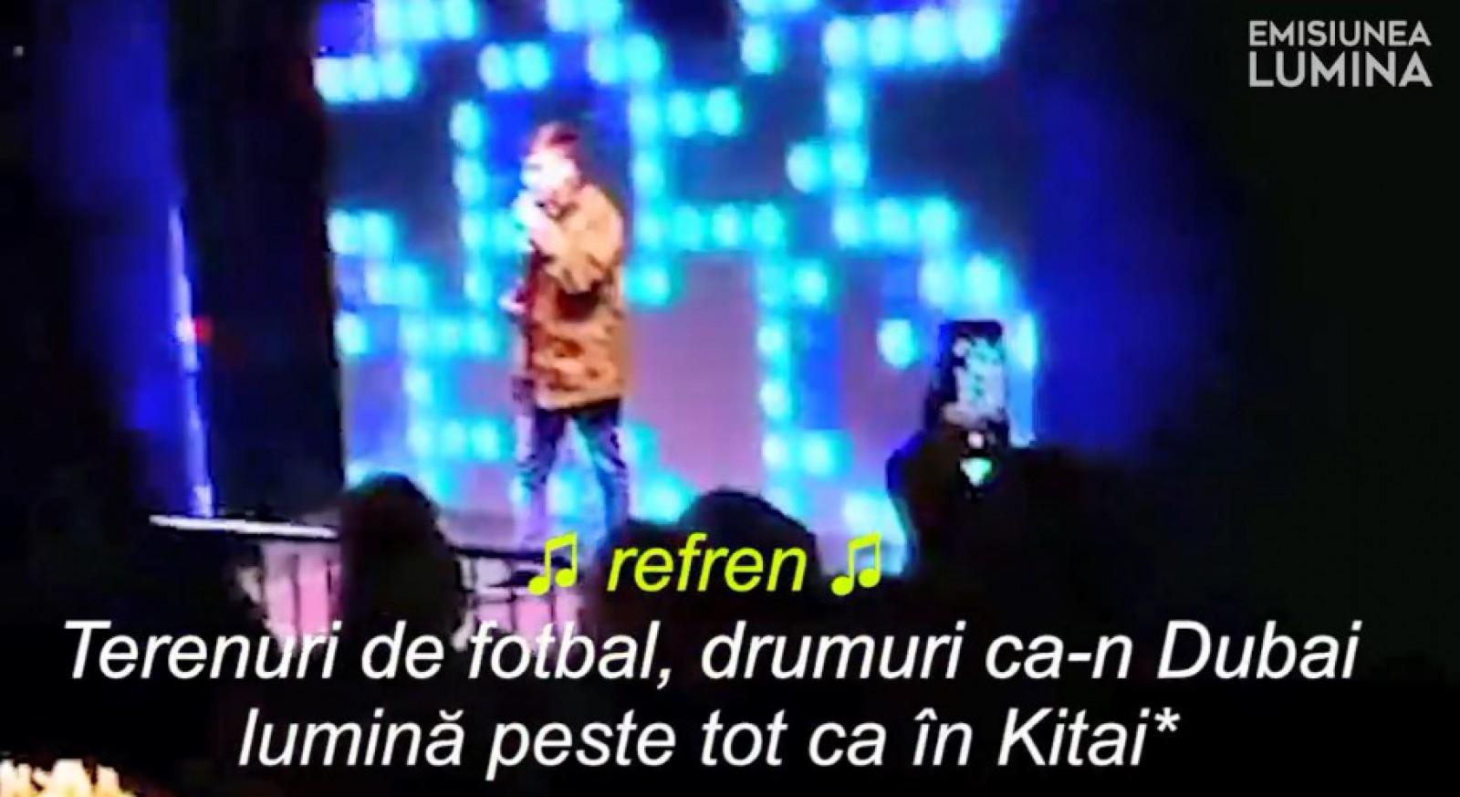 """(video) Dedicație specială pentru Ilan Șor, interpretul """"Cerbu"""" a cântat la târgul de crăciun: """"Drumuri ca-n Dubai, lumină peste tot ca-n Kitai"""""""