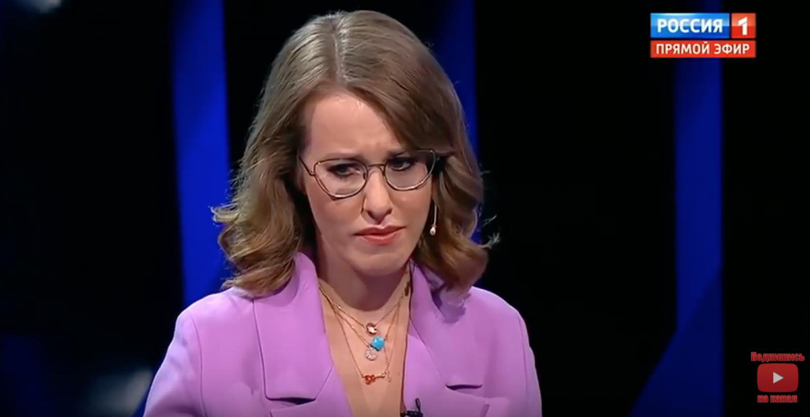 (video) Dezbateri în Rusia: Pe final de campanie, Ksenia Sobchak a început să plângă în emisie directă