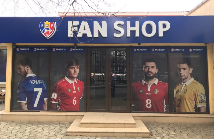 (video) Federația Moldovenească de Fotbal a deschis primul fan-shop al naționalei de fotbal a Moldovei
