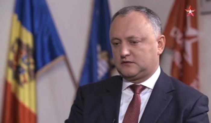(video) Igor Dodon, interviu pentru o televiziune din Rusia: Invidiez poporul rus pentru liderul pe care îl au