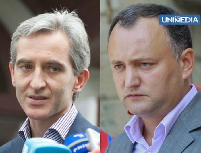 """(video) Duel verbal între Leancă și Dodon: """"Soluția"""" este un tunel pe sub Ucraina"""