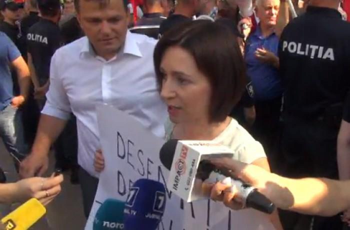 (video) Maia Sandu: Guvernarea aduce forțat oameni din raioane ca să participe la cumetria numită Votarea votului mixt