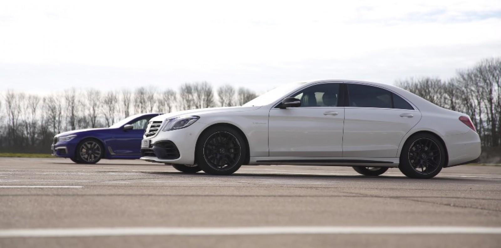 (video) Mercedes-AMG S 63 vs BMW M760Li – drag race, acceleraţia de la 80 km/h şi testul frânelor