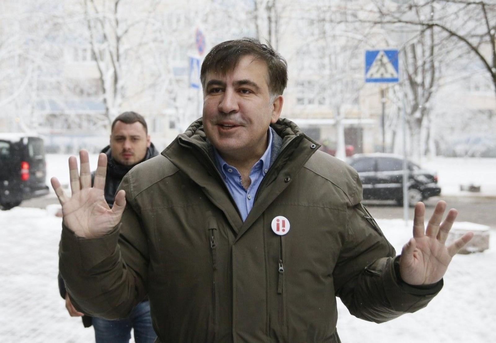 (video) Mihail Saakașvili a fost reținut acum câteva clipe la Kiev