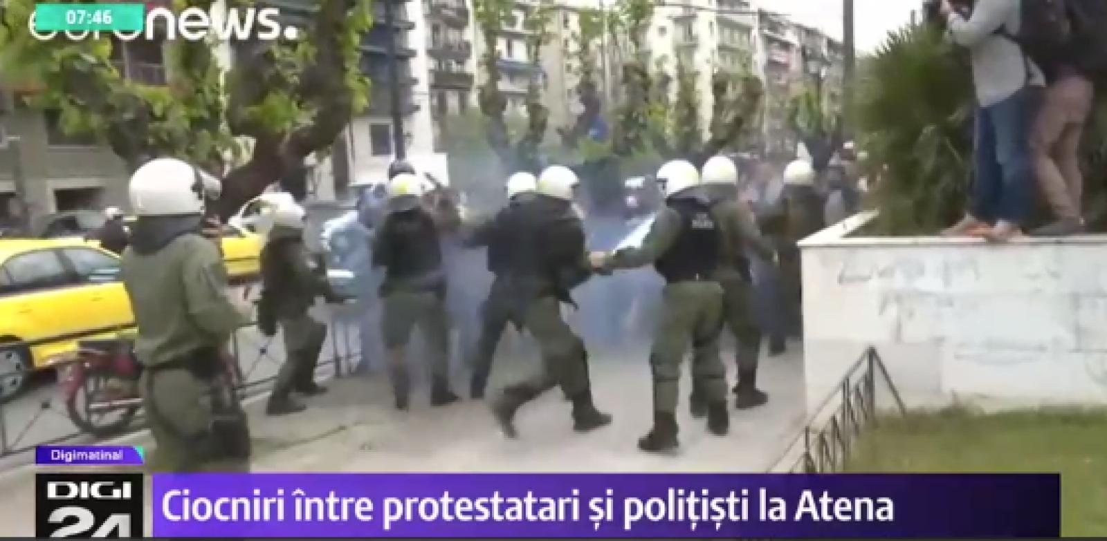 (video) Miting anti-SUA la Atena. Statuia președintelui Truman a fost vandalizată