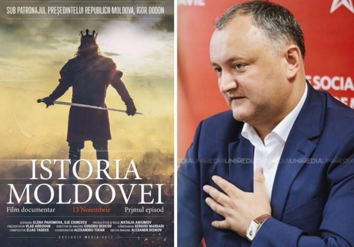 """(video) Premiera fimului """"Istoria Moldovei"""" a avut loc. Igor Dodon, convins că toți cei care l-au vizionat au rămas plăcut surprinși"""