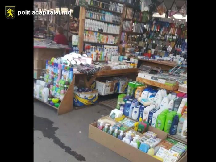 (video) Produse cosmetice contrafăcute, cu mărci de talie internațională, vândute în Piața Centrală