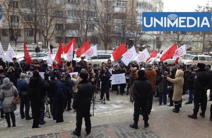 (video) Protest în fața Procuraturii și MAI! Comuniștii cer demisia și arestarea lui Zubco