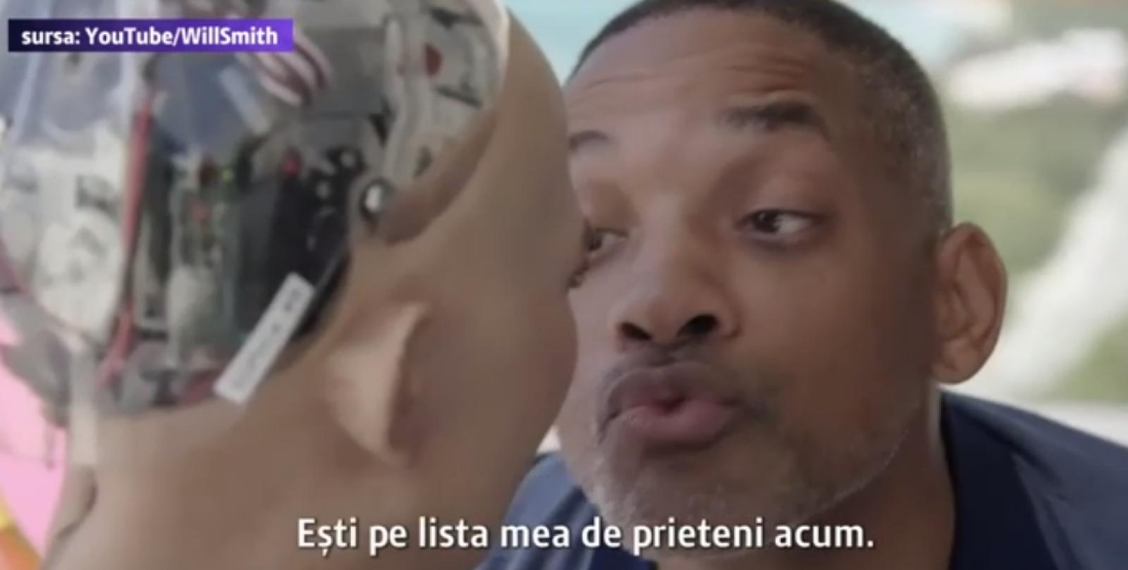 (video) Reacția robotului Sophia la încercarea lui Will Smith de a o săruta