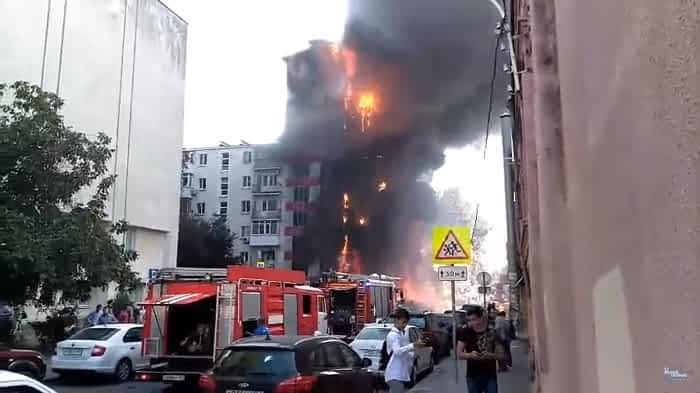 (video) Rusia: Doi oameni și-au pierdut viața în urma unui incendiu devastator într-un hotel din orașul Rostov