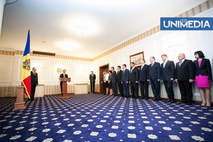 """(video) Timofti către membrii noului Guvern: """"Vă doresc succes și am încredere în voi"""""""