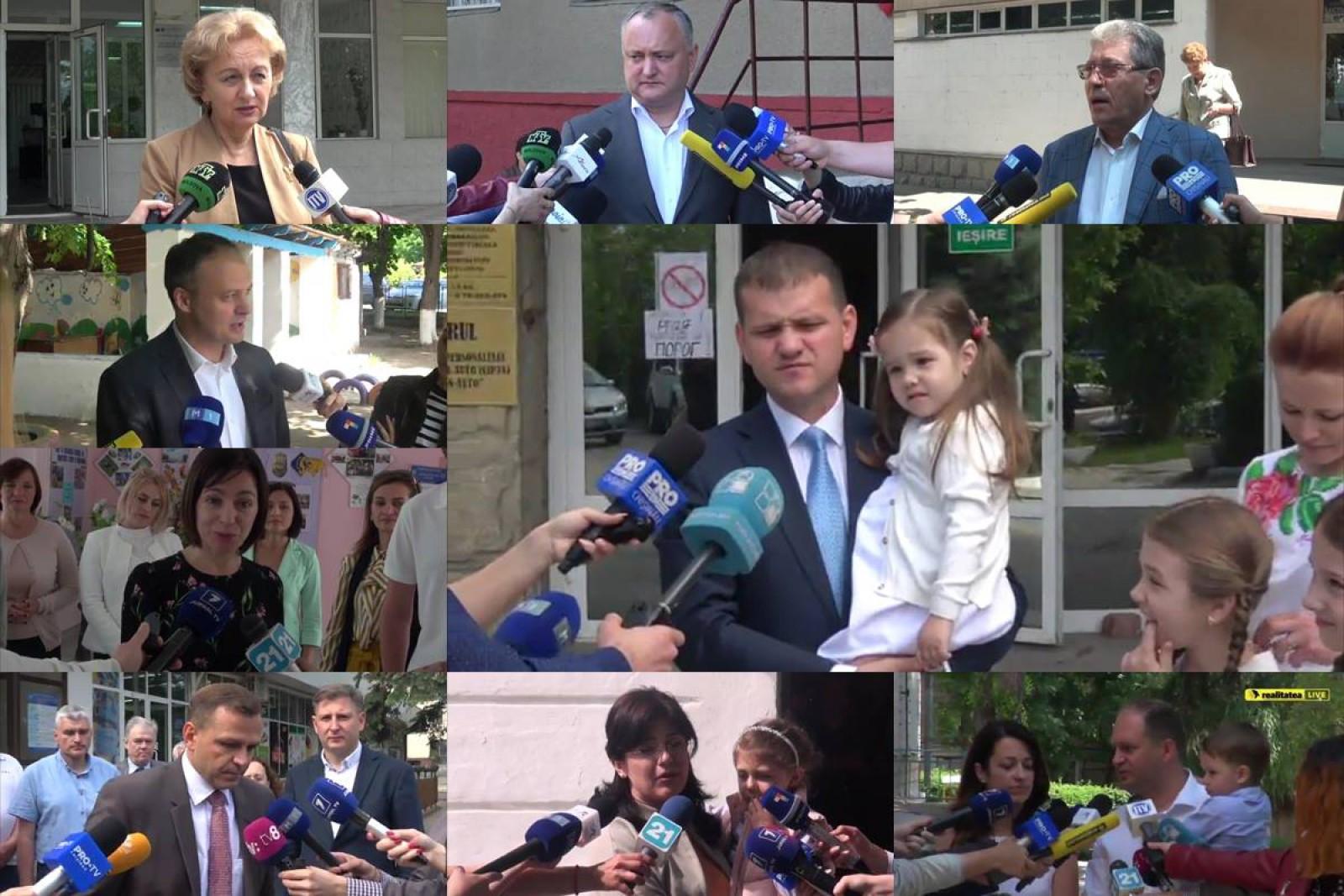 (video) Toate declarațiile zilei într-un singur clip. Excepție face Vlad Plahotniuc, care nu a apărut în spațiul public