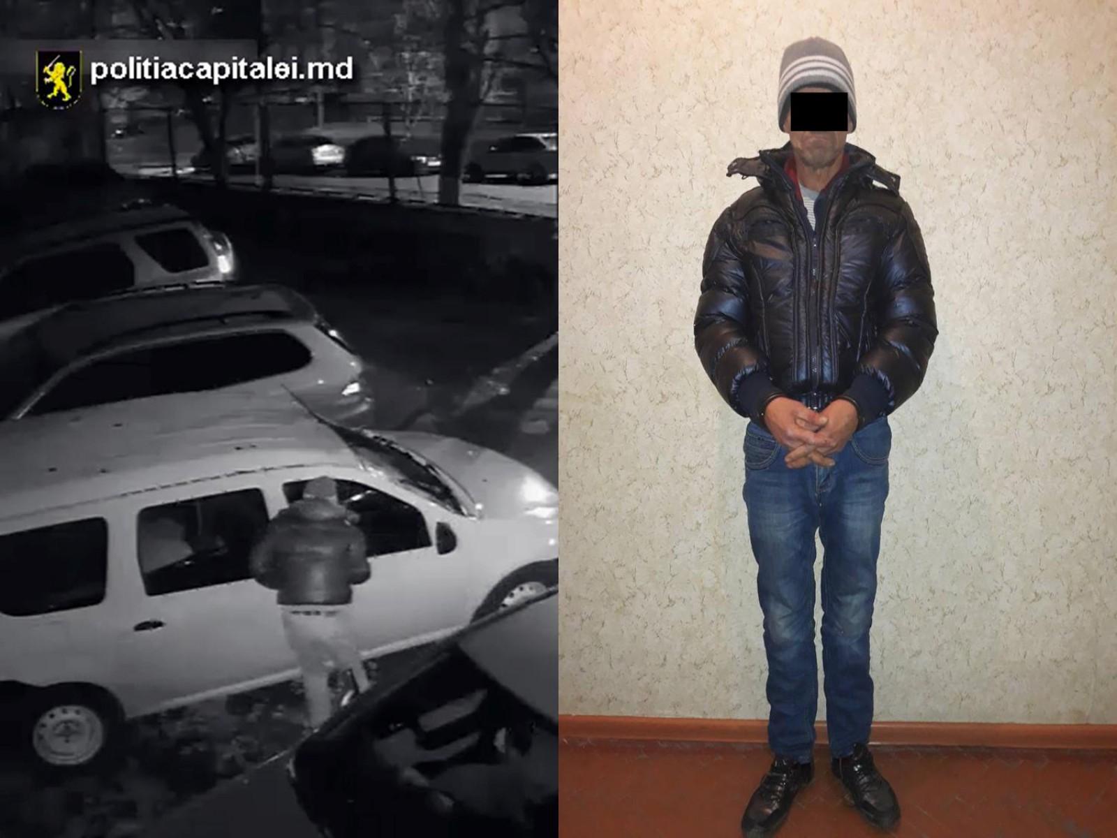 (video) Un bărbat de 60 de ani din Strășeni, reținut: Ar fi spart cel puțin cinci mașini pe teritoriul capitalei