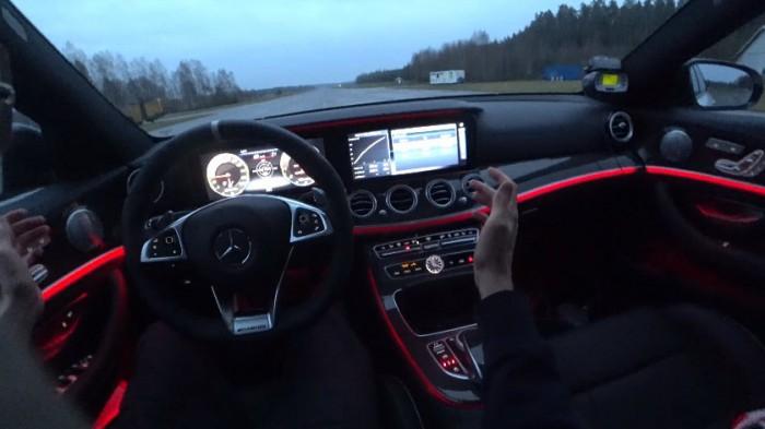 (video) Un Mercedes-AMG E63 S Estate a fost accelerat până la 200 km/h fără să-i fie atins volanul