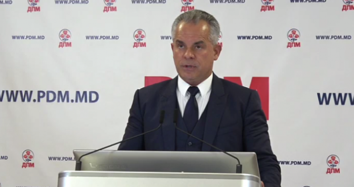 (video) Vladimir Plahotniuc face declarații de presă la sediul Partidului Democrat din Moldova