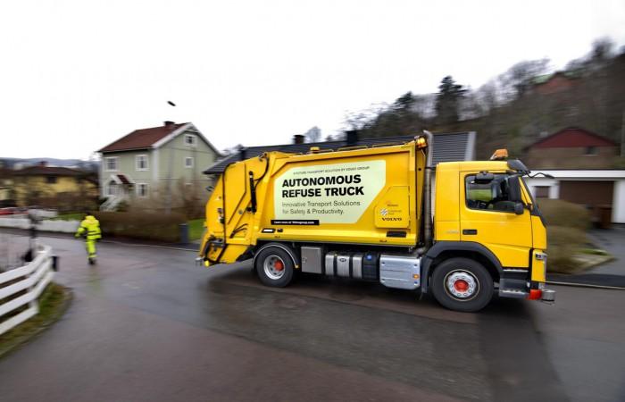 (video) Volvo a început să testeze un camion de salubrizare dotat cu autopilot