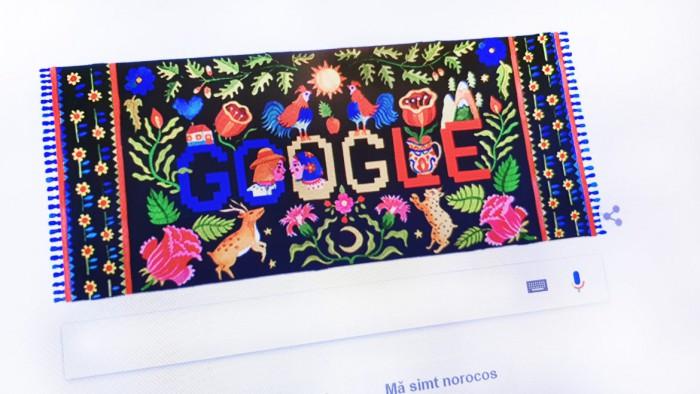 Ziua Națională a României 2017. Ce simboluri a ascuns Google în desenul care definește România