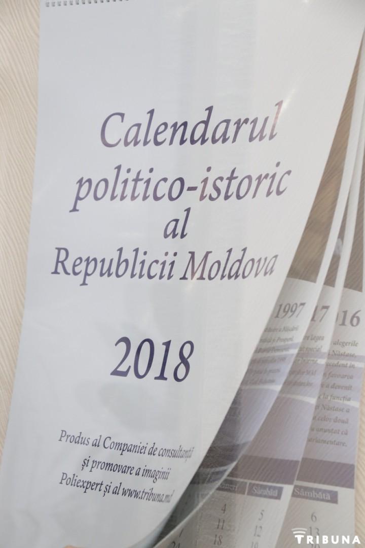 A fost scos de sub tipar un produs inedit – primul Calendar istorico-politic al Republicii Moldova