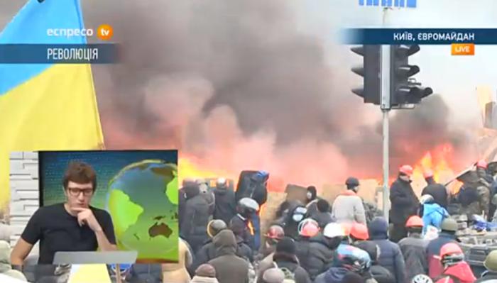 Cel puțin douăzeci de persoane au decedat în urma ciocnirilor violente din centrul Kievului