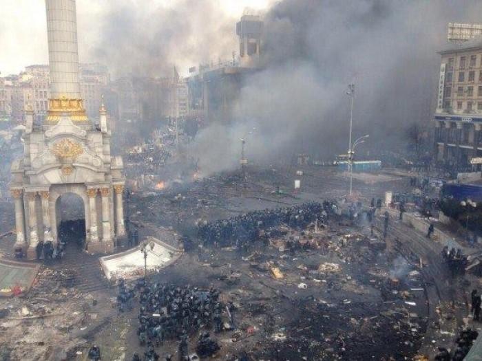 (foto) Cum arată centrul Kievului după confruntarea de noaptea trecută