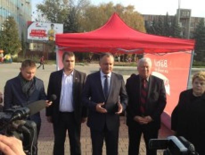 """(foto) Facebook: """"Moldoveneasca"""" lui Dodon își spune cuvântul și în campania socialiștilor"""