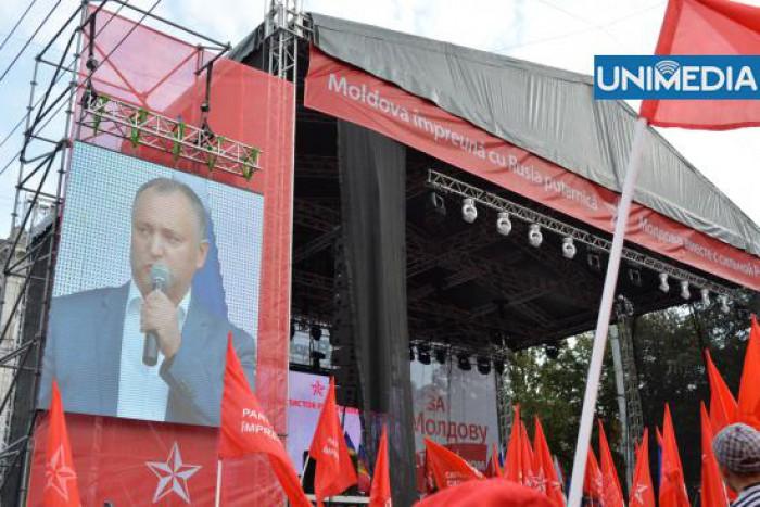 """(foto) Socialiștii au mărșăluit pentru """"pentru Moldova în Uniunea Vamală"""""""