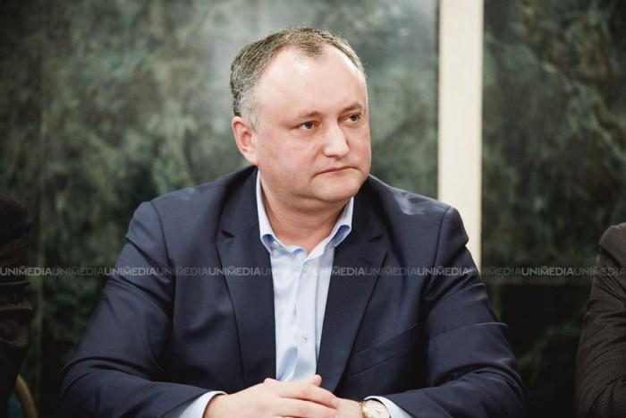 Igor Dodon: La Telenești au fost descărcate camioane cu pachete ale PD-ului