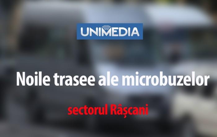 (infografic) Sectorul Râșcani: Cum vor circula microbuzele începând cu 25 august