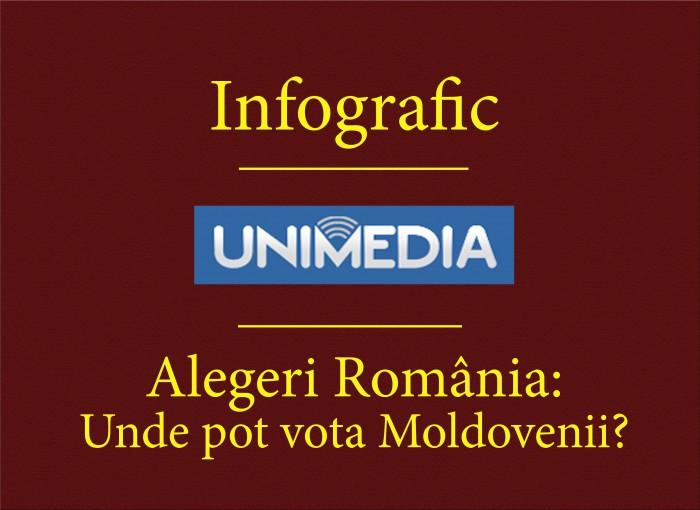 INFOGRAFIC: Unde pot vota moldovenii la alegerile prezidențiale din România