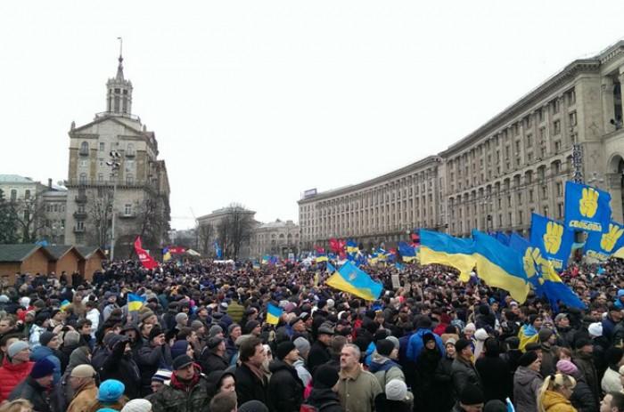 (video) Kiev: Protestatarii au înaintat două condiții