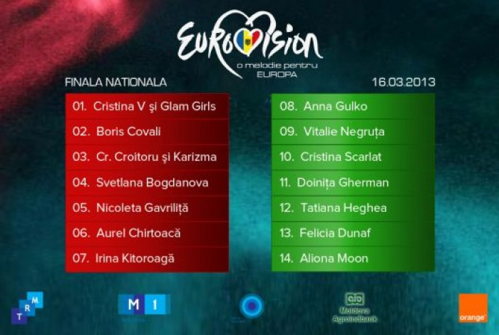 LIVE: Moldova decide pe cine va trimite la Eurovision 2013!