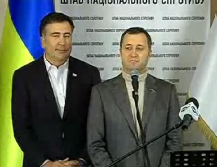 LIVE: Filat și Saakașvili, în fața ucrainenilor