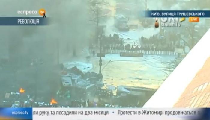 LIVE: Zeci de activiști ucraineni au luat cu asalt clădirea Ministerului Agriculturii