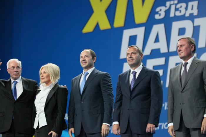 Partidul Regiunilor din Ucraina, în opoziție