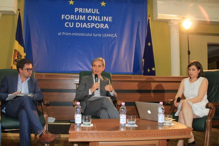 Primul Forum online cu diaspora. Ce le-a spus Leancă moldovenilor de peste hotare