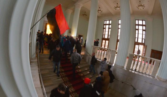 Protestatarii ucraineni au ocupat clădirea CCA și Oficiul Central al Poștei