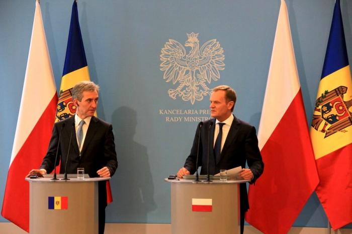 Tusk: Polonia va continua să fie avocatul integrării europene a Republicii Moldova