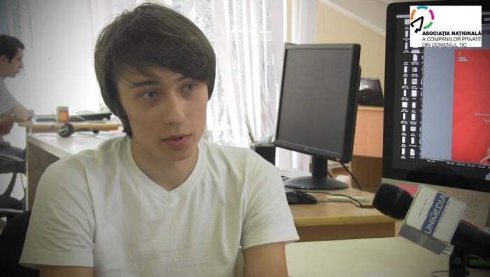 (video) Aleg Cariera IT. Artiom Vladimir, tânărul pasionat de webdesign