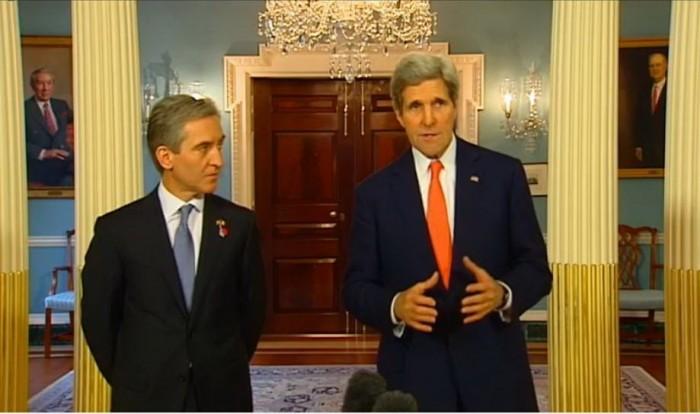 (video) Declarațiile lui John Kerry și Iurie Leancă în fața jurnaliștilor de la Washington