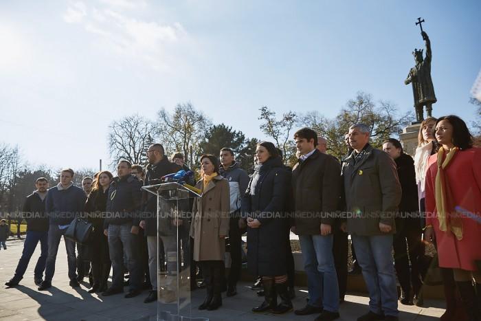 """(video/foto) Maia Sandu a lansat public campania """"Adio, Dodon"""": Anunțăm mobilizare generală"""