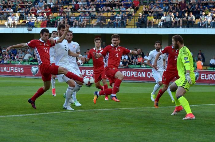 (video) Ghinion pentru naționala Moldovei! Echipa noastră a ratat victoria în partida de la Chișinău cu Georgia