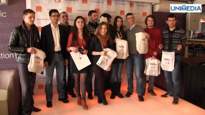 """(video) Orange și UNIMEDIA au premiat câștigătorii concursului """"Eurovision 2013"""""""