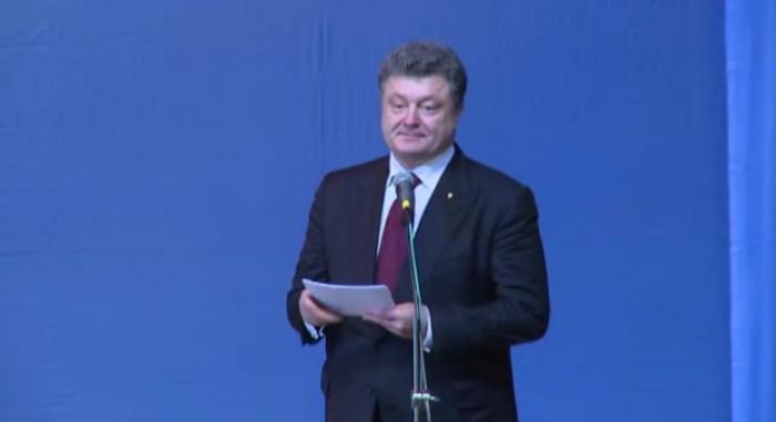 (video) Poroșenko i-a îndemnat pe ucrainenii de la noi să voteze pro-Europa