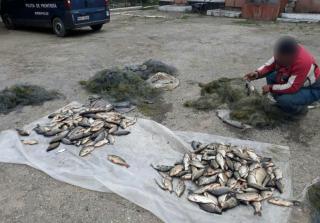 """45 kg de pește și mai multe plase, reținute de polițiștii de frontieră. Doi """"pescari"""" moldoveni, documentați"""