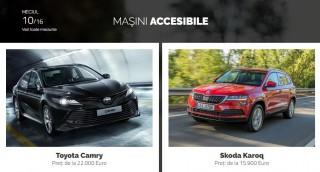 AUTOVOT MOLDOVA 2018! Duelul din runda II: Toyota Camry vs Skoda Karoq!