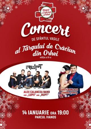 Concert de Anul Nou pe stil vechi la Orhei: Alex Calancea Band, Costi Burlacu și Corina Țepeș