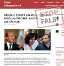 """Fals: Traian Băsescu a declarat că Maia Sandu """"a coborât la nivelul"""" lui Andrei Năstase. Reacția ex-președintelui"""