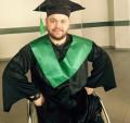 (foto) Campionul din scaunul cu rotile Ștefan Roșca a absolvit a doua facultate
