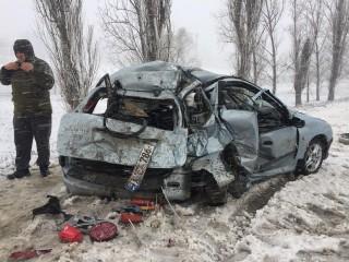 (foto) Impact violent în raionul Anenii Noi: Cel puțin o persoană a avut de suferit