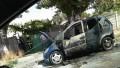(foto) Pompierii, în alertă: Un automobil a luat foc în plină stradă